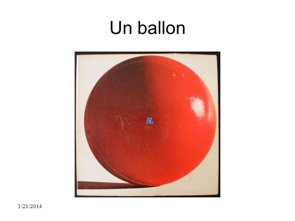 Un ballon 1/21/2014