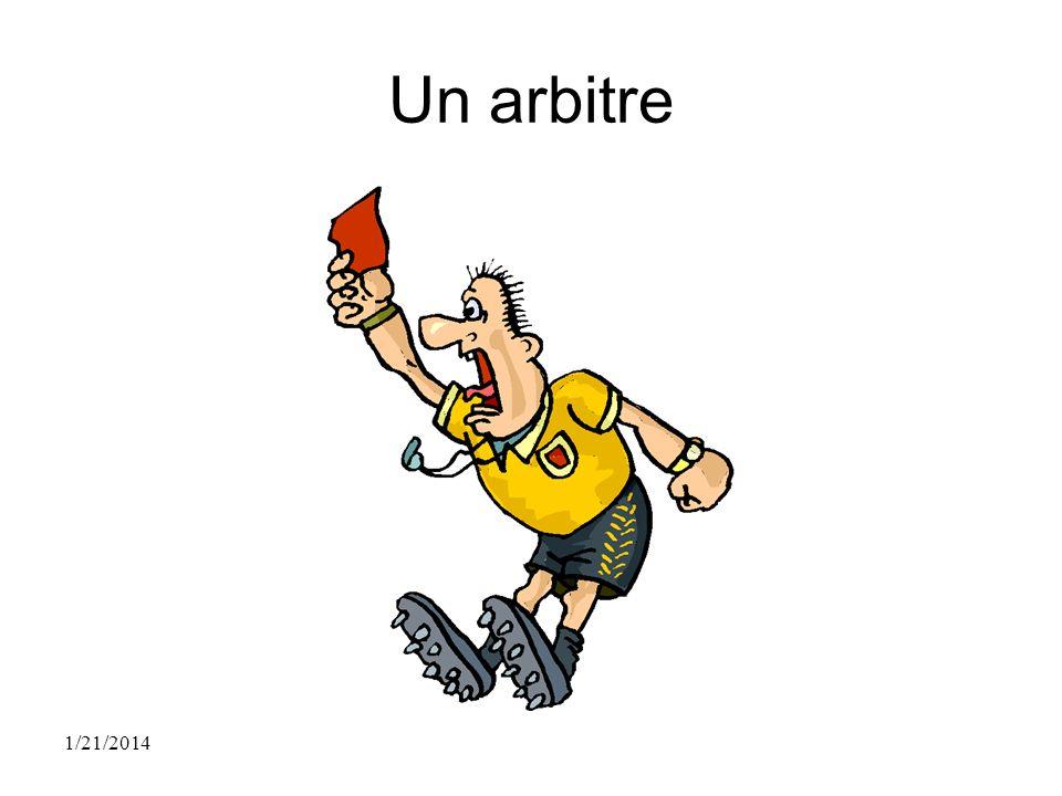 Un arbitre 1/21/2014