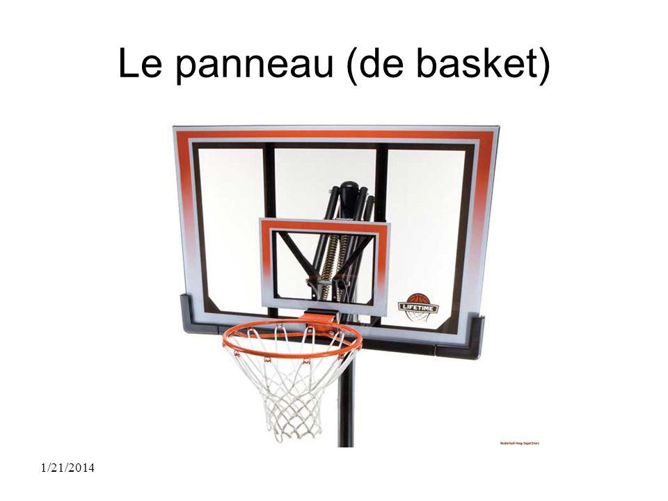 Le panneau (de basket) 1/21/2014