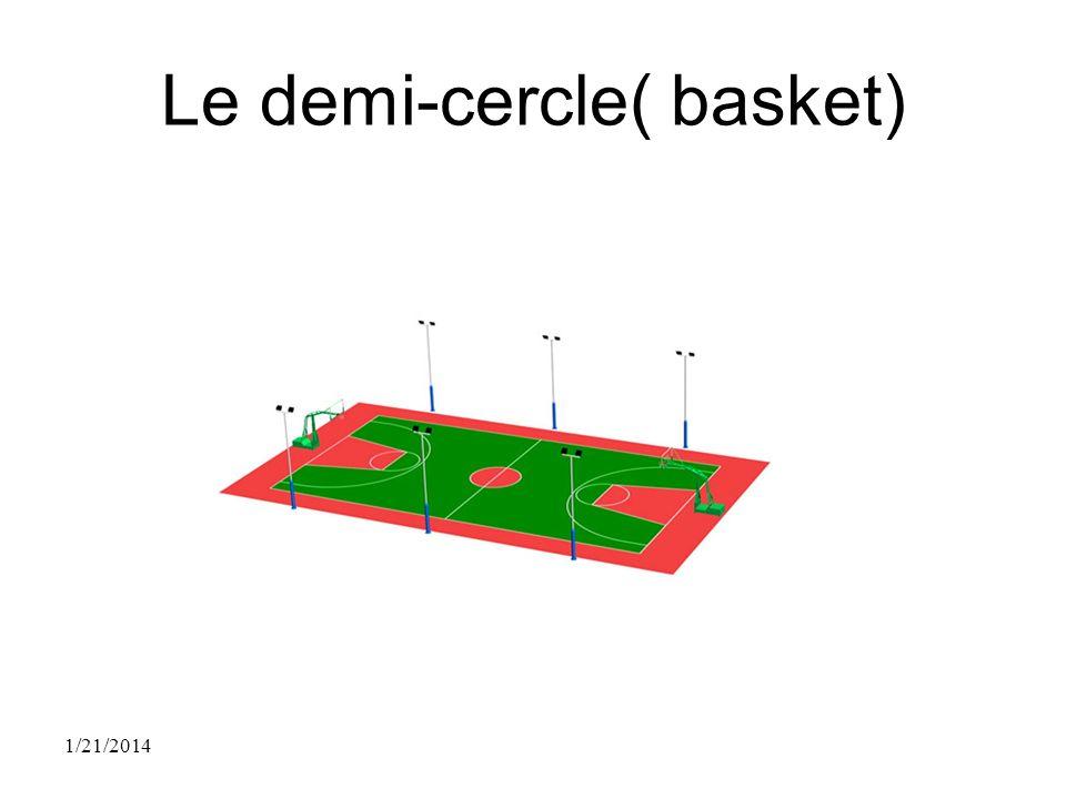 Le demi-cercle( basket) 1/21/2014