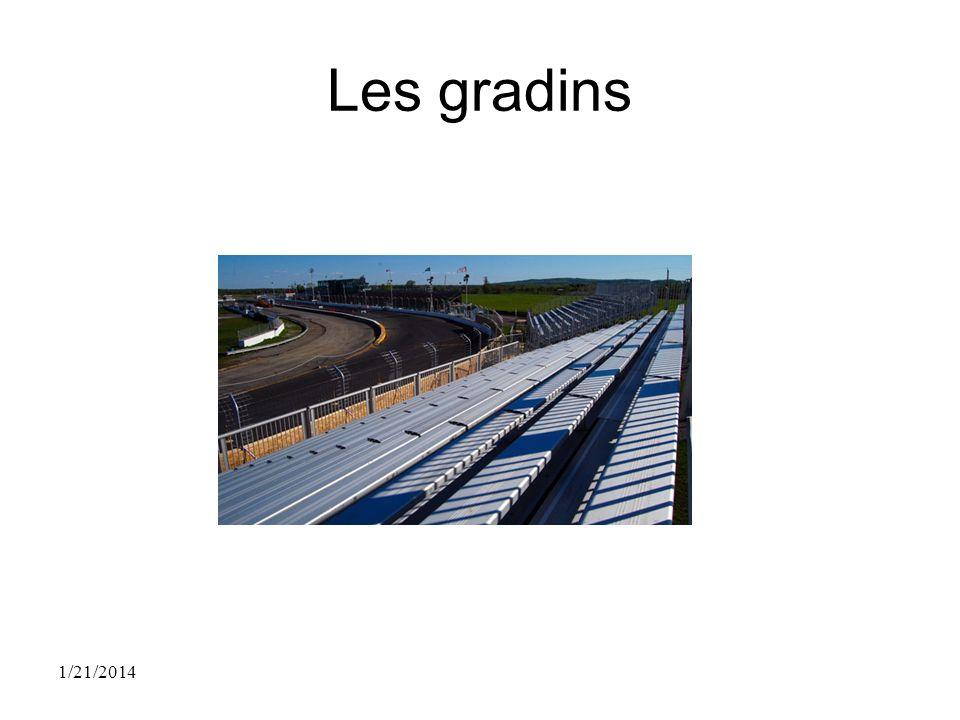 Les gradins 1/21/2014