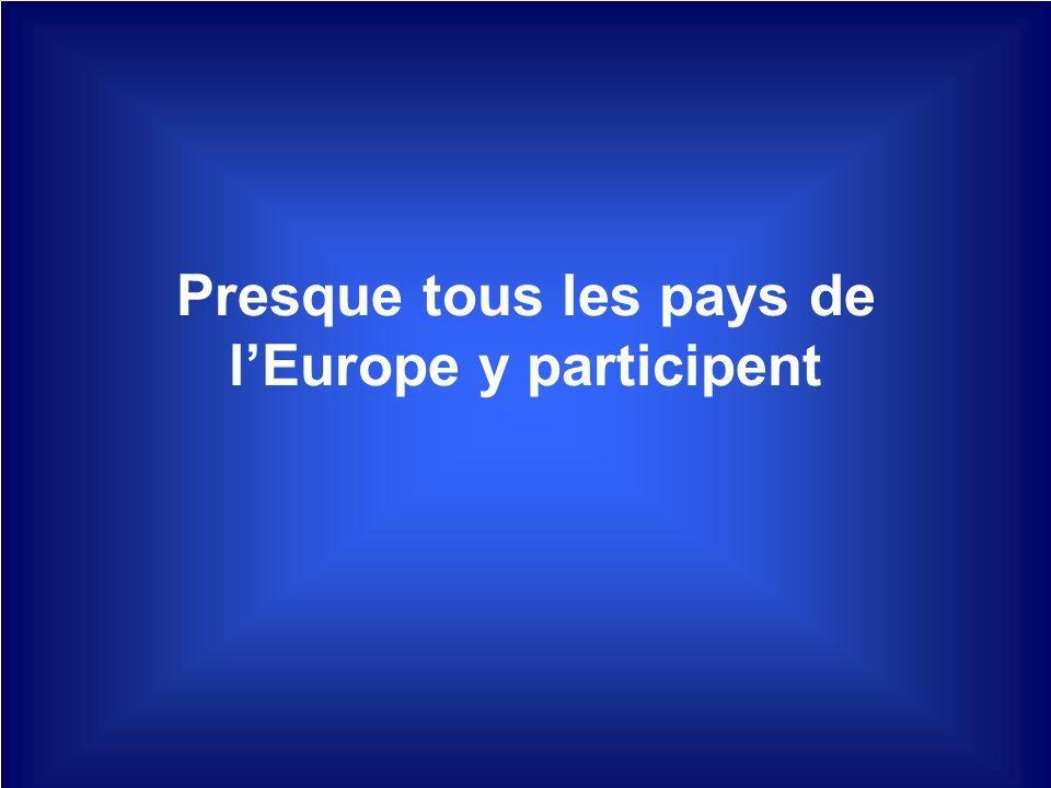 Presque tous les pays de lEurope y participent