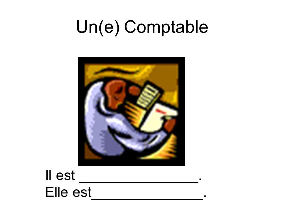 Un(e) Comptable Il est _______________. Elle est______________.