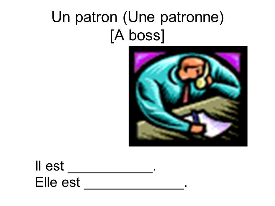 Un patron (Une patronne) [A boss] Il est ___________. Elle est _____________.