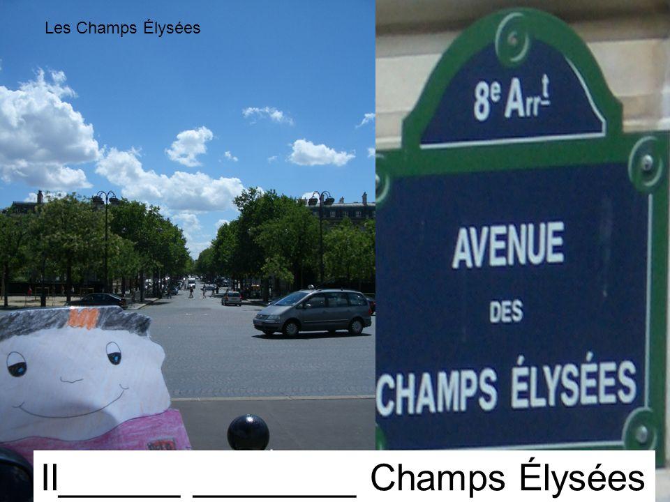 Les Champs Élysées Il______ ________ Champs Élysées