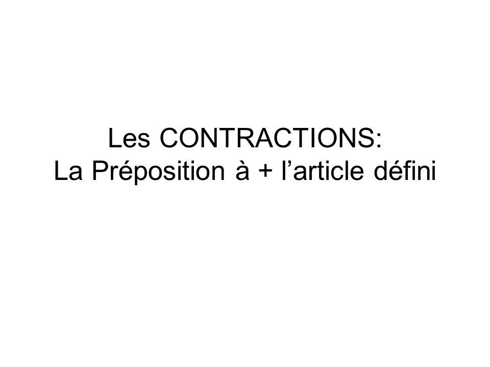 La préposition à a plusiers sens: --Patrick habite à Paris.