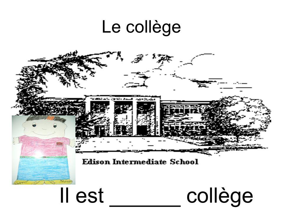 Le lycée Il est _____ lycée.