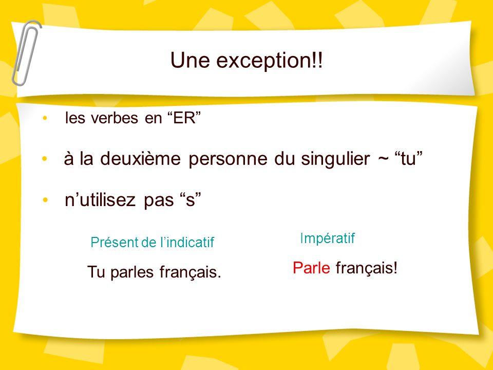 Une exception!.