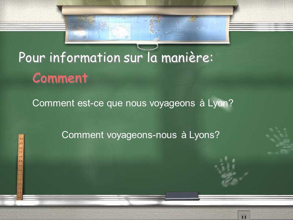 Pour information sur la manière: Comment Comment est-ce que nous voyageons à Lyon.