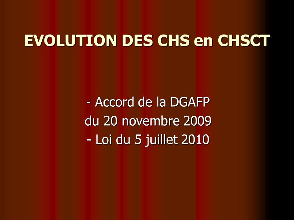 Création des CHSCT - dans toutes les collectivités de + de 50 agents ainsi que dans tous les SDIS -Sur délibération de la collectivité si les effectifs ou la nature des risques professionnels le justifient
