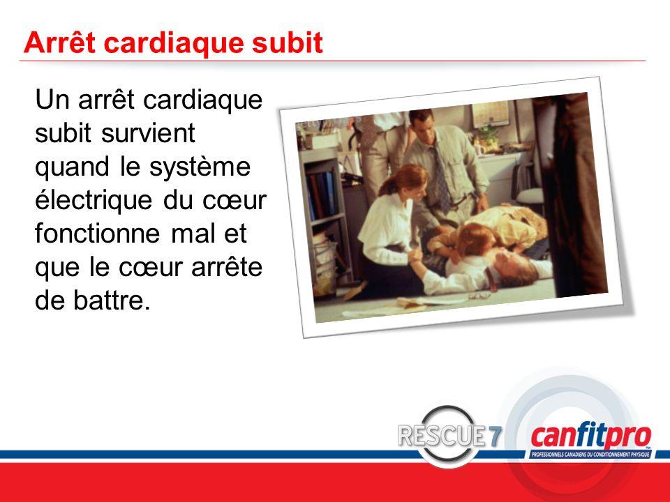 CPR Course Level 1 Arrêt cardiaque subit Un arrêt cardiaque subit survient quand le système électrique du cœur fonctionne mal et que le cœur arrête de