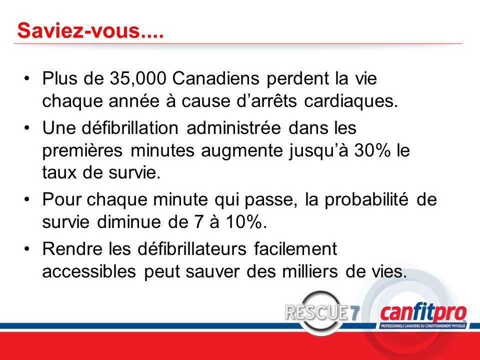 CPR Course Level 1 Saviez-vous.... Plus de 35,000 Canadiens perdent la vie chaque année à cause darrêts cardiaques. Une défibrillation administrée dan