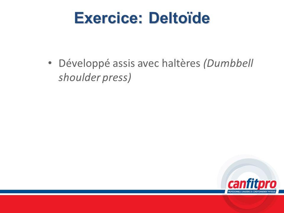 Exercice: Deltoïde Développé assis avec haltères (Dumbbell shoulder press)