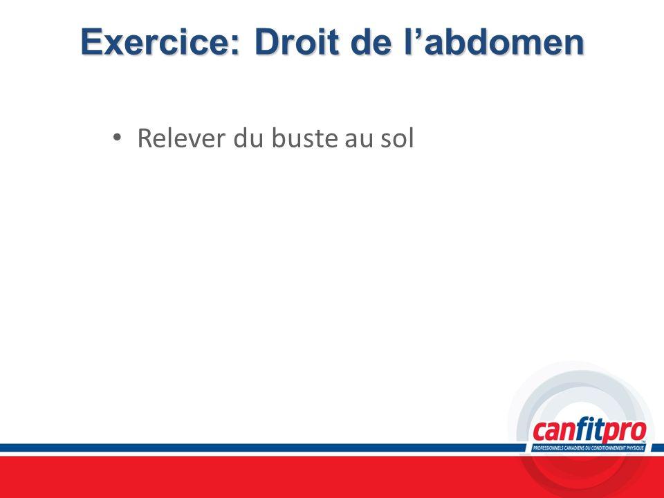 Exercice: Droit de labdomen Relever du buste au sol