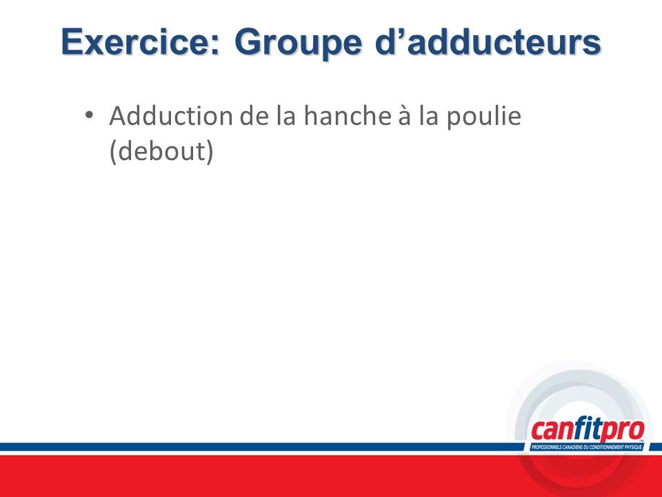 Exercice: Groupe dadducteurs Adduction de la hanche à la poulie (debout)