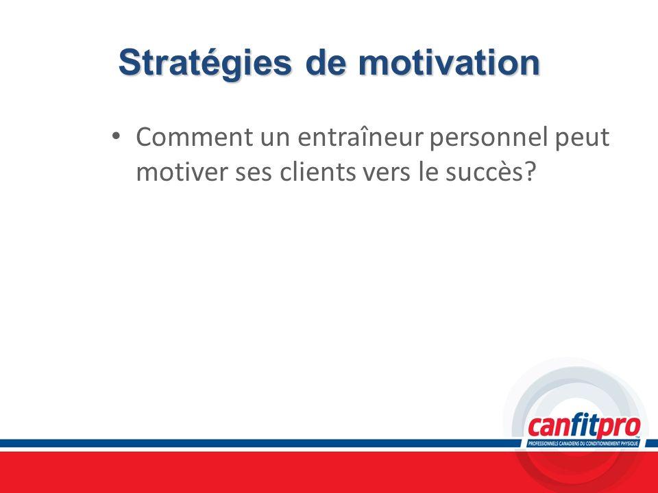 Stratégies de motivation Comment un entraîneur personnel peut motiver ses clients vers le succès?