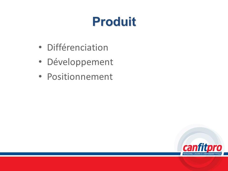 Produit Différenciation Développement Positionnement