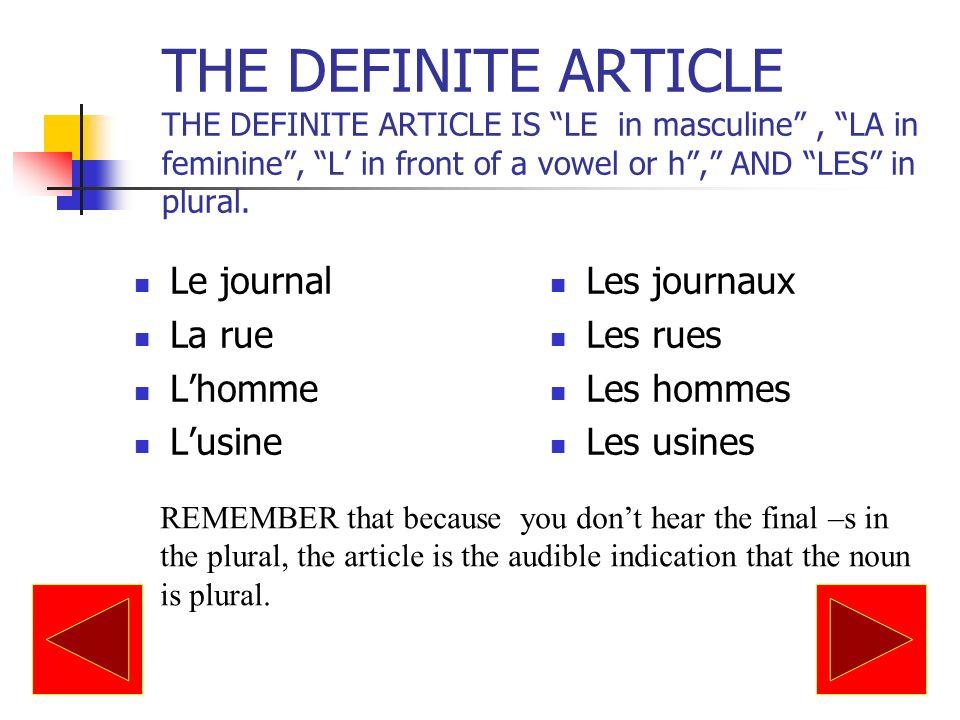 DE (invariable) is usually used rather than DES before an adjective that precedes a noun: Il y a de belles filles en France.