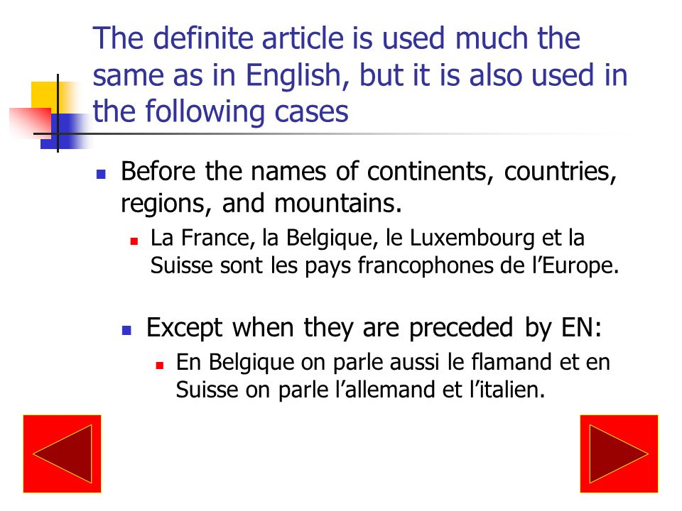 Use of the indefinite article then article is omitted in the following cases: before an unmodified noun of nationality, occupation, or profession: Elle est Américaine.