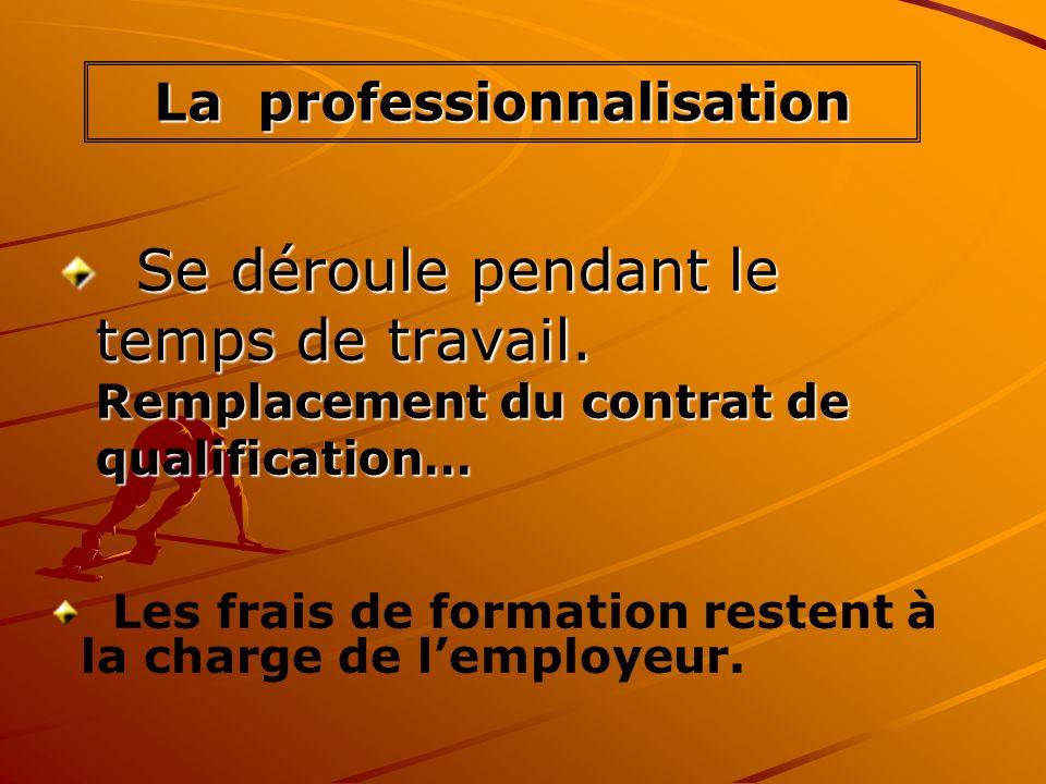 Se déroule pendant le temps de travail. Remplacement du contrat de qualification… Se déroule pendant le temps de travail. Remplacement du contrat de q