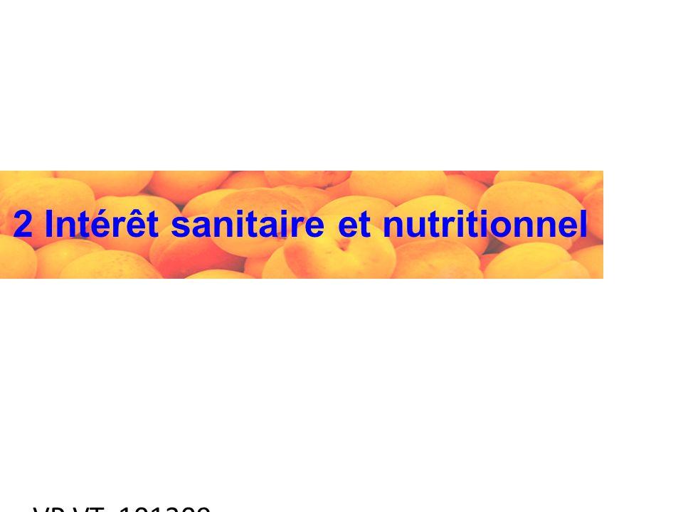 VP VT 101209 2 Intérêt sanitaire et nutritionnel