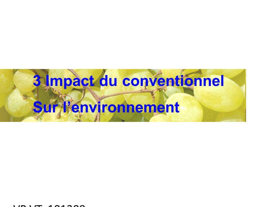 VP VT 101209 3 Impact du conventionnel Sur lenvironnement