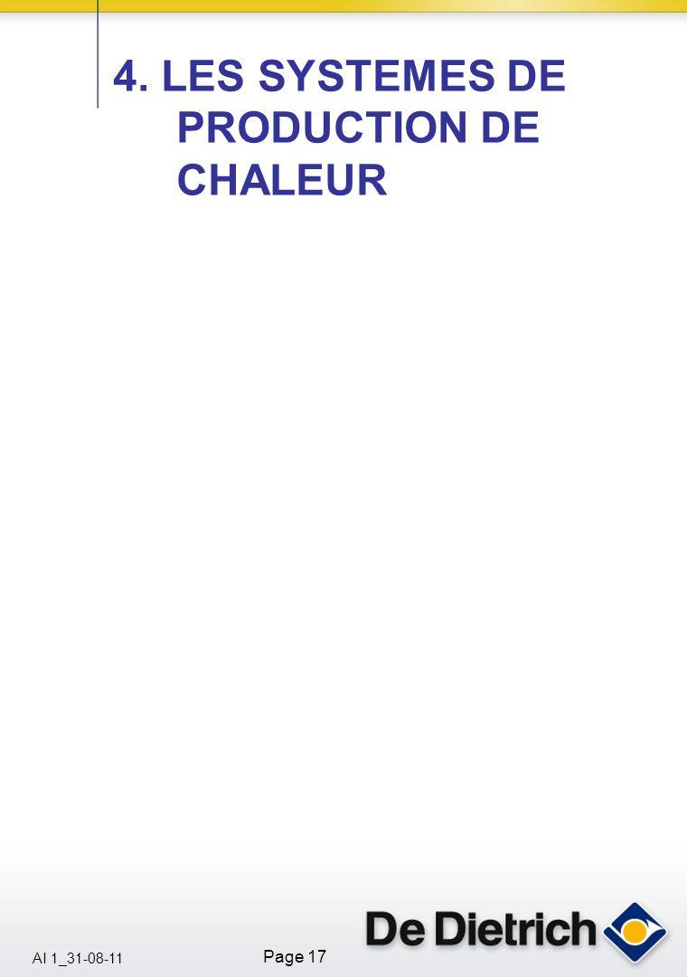 AI 1_31-08-11 Page 17 4. LES SYSTEMES DE PRODUCTION DE CHALEUR