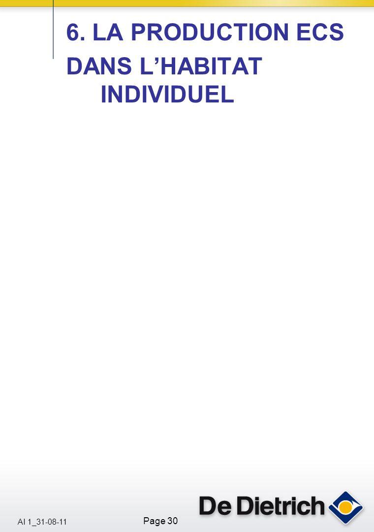AI 1_31-08-11 Page 30 6. LA PRODUCTION ECS DANS LHABITAT INDIVIDUEL
