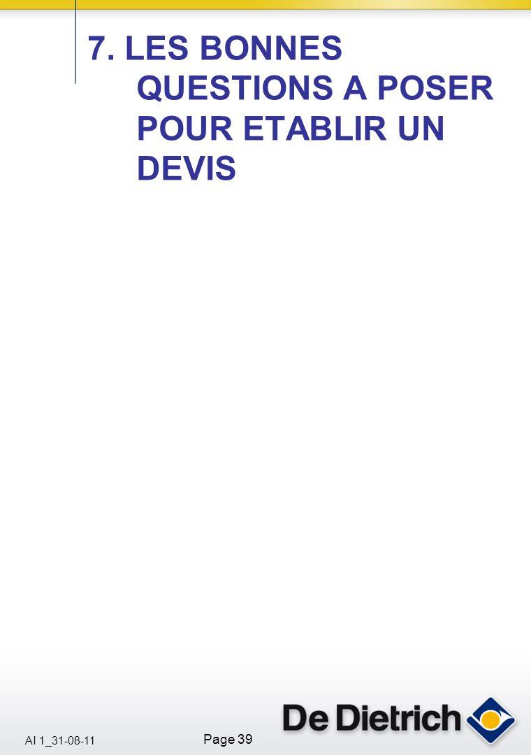 AI 1_31-08-11 Page 39 7. LES BONNES QUESTIONS A POSER POUR ETABLIR UN DEVIS