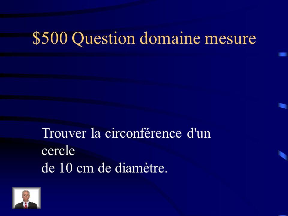 $400 Réponse domaine mesure A= b×h÷2