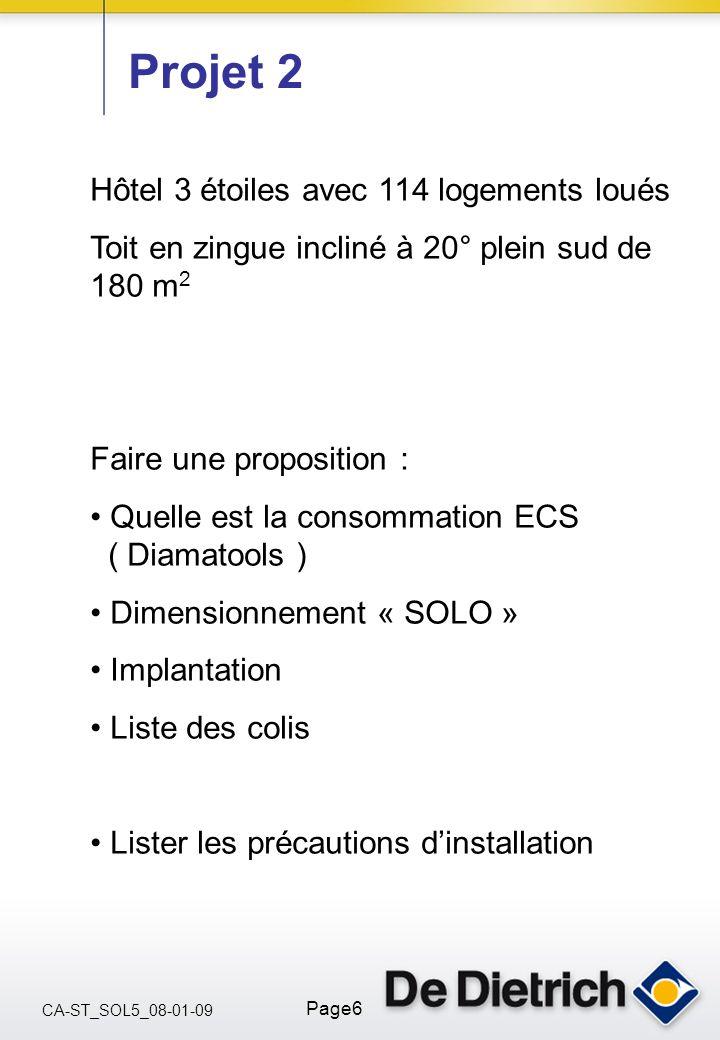 CA-ST_SOL5_08-01-09 Page6 Hôtel 3 étoiles avec 114 logements loués Toit en zingue incliné à 20° plein sud de 180 m 2 Faire une proposition : Quelle es