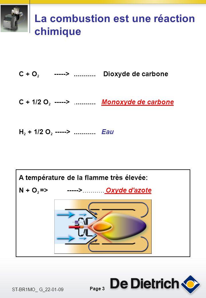 Page 3 ST-BR1MO_ G_22-01-09 C + O 2 ----->........... Dioxyde de carbone H 2 + 1/2 O 2 ----->...........Eau A température de la flamme très élevée: N