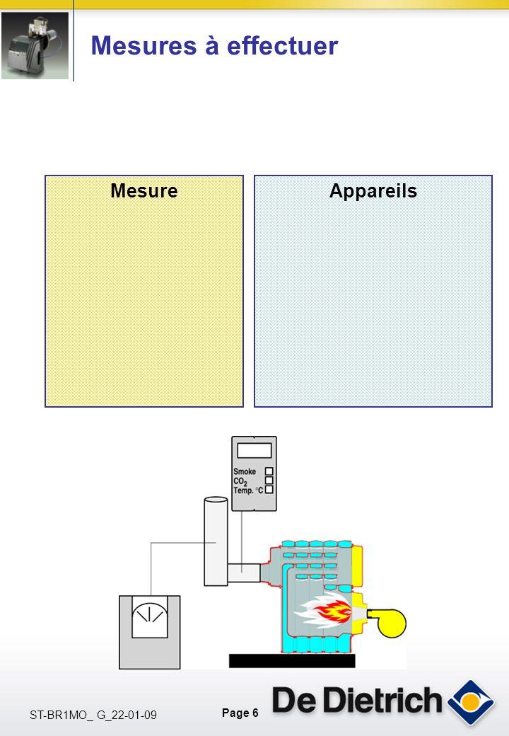 Page 6 ST-BR1MO_ G_22-01-09 Mesures à effectuer MesureAppareils