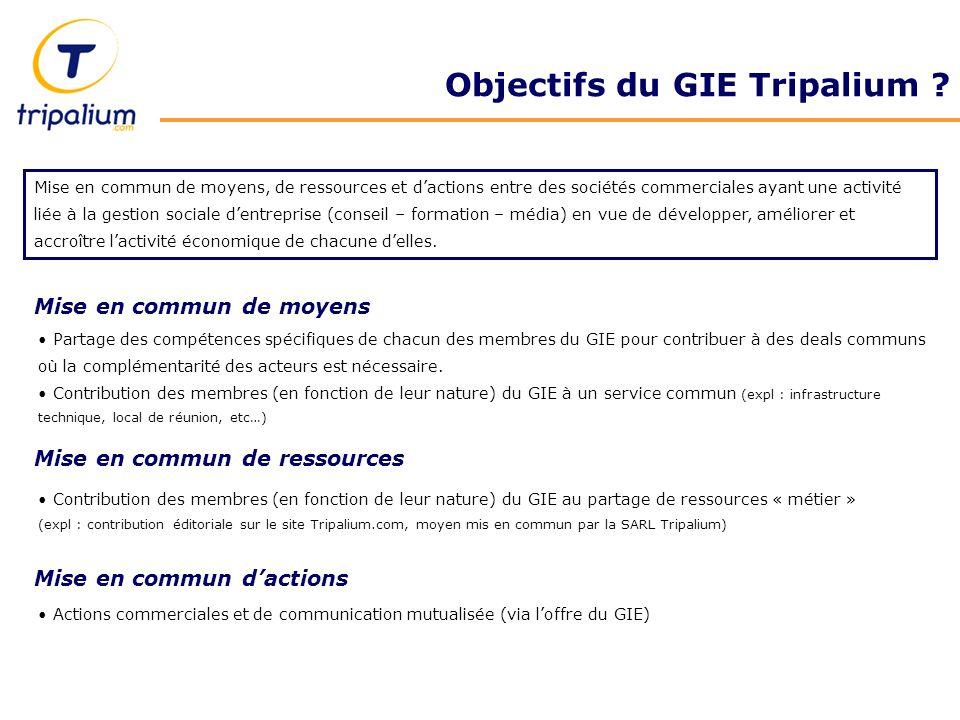 Objectifs du GIE Tripalium .