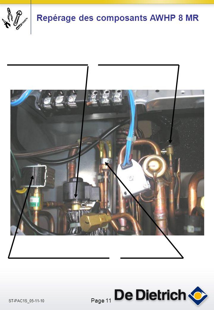 ST-PAC1S_05-11-10 Page 11 Repérage des composants AWHP 8 MR