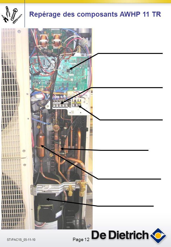 ST-PAC1S_05-11-10 Page 12 Repérage des composants AWHP 11 TR