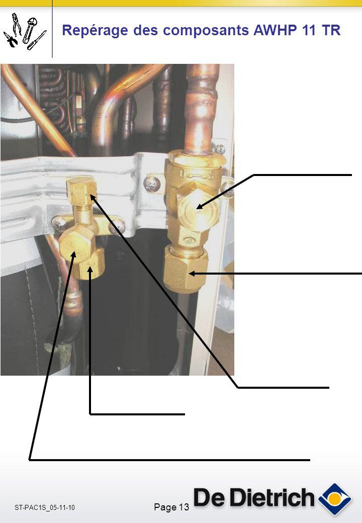 ST-PAC1S_05-11-10 Page 13 Repérage des composants AWHP 11 TR