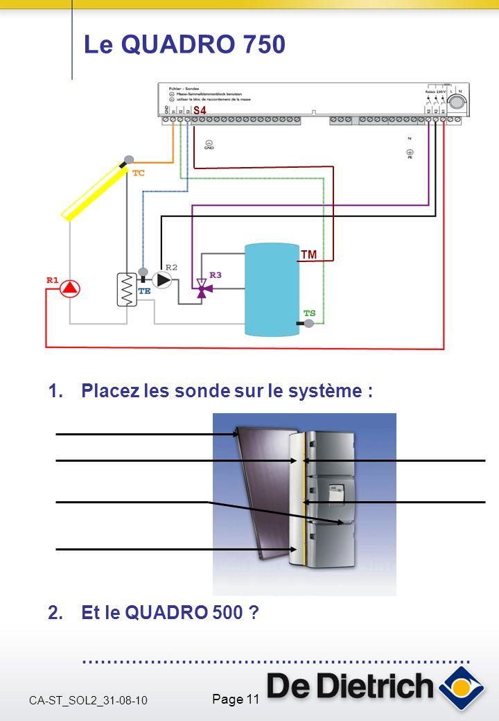CA-ST_SOL2_31-08-10 Page 11 Le QUADRO 750 1.Placez les sonde sur le système : 2.Et le QUADRO 500 ? ……………………………………………………… S4 TM