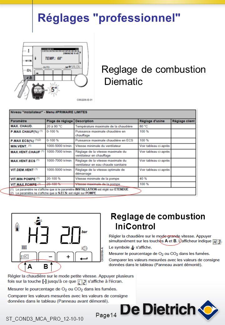 ST_COND3_MCA_PRO_12-10-10 Page14 Réglages