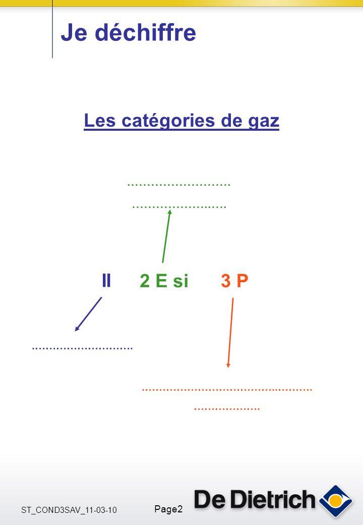 ST_COND3SAV_11-03-10 Page2.……………………. ………………..…. Je déchiffre II.………………………………..………. ………………. Les catégories de gaz 2 E si3 P.……………………….