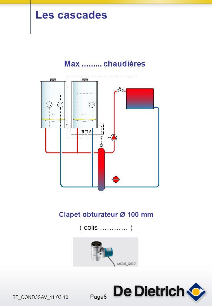 ST_COND3SAV_11-03-10 Page8 Les cascades Max......... chaudières Clapet obturateur Ø 100 mm ( colis ………… )