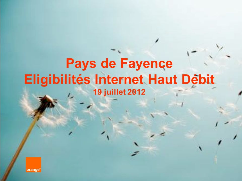 Pays de Fayence Eligibilités Internet Haut Débit 19 juillet 2012