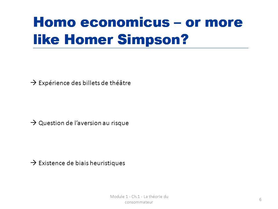 Module 1 - Ch.1 - La théorie du consommateur 7 Deutsche Bank - 2010