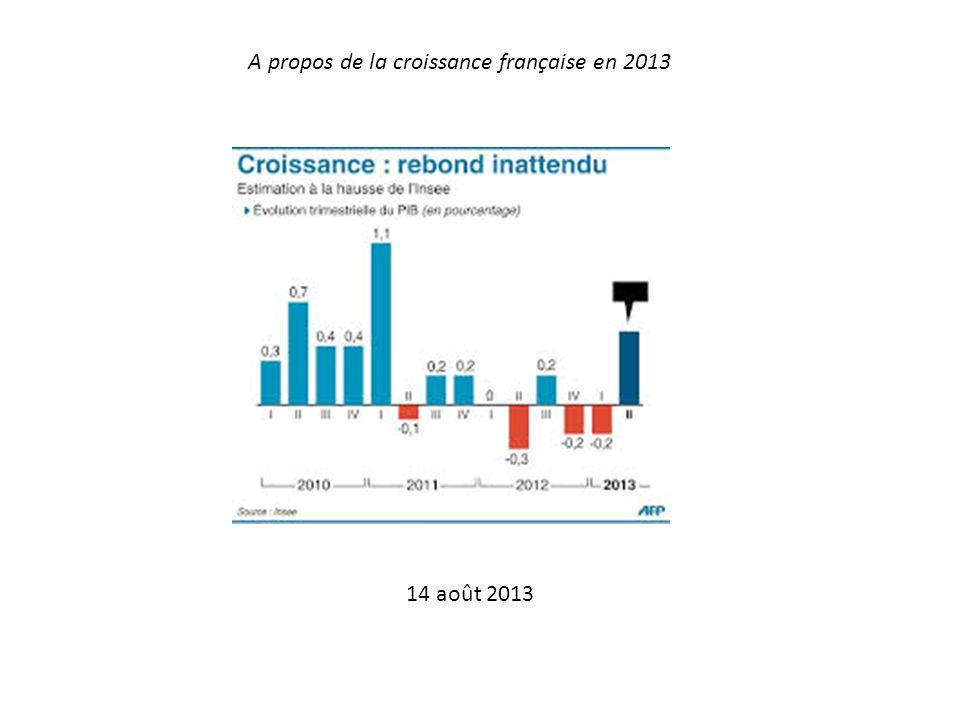 A propos de la croissance française en 2013 14 août 2013