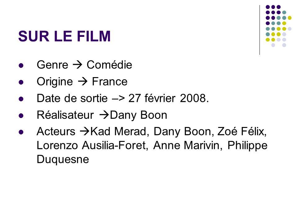 SUR LE FILM Genre Comédie Origine France Date de sortie –> 27 février 2008. Réalisateur Dany Boon Acteurs Kad Merad, Dany Boon, Zoé Félix, Lorenzo Aus
