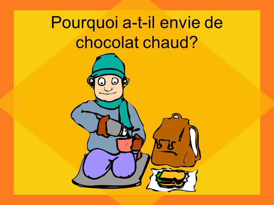 Pourquoi a-t-il envie de chocolat chaud?
