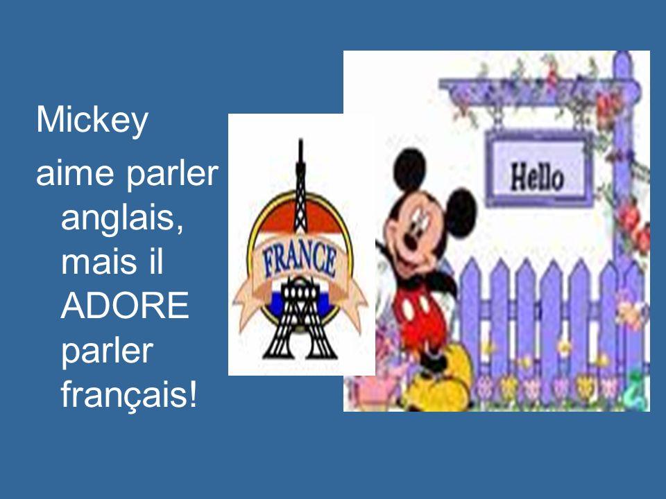 Mickey aime étudier. Il est très intelligent!