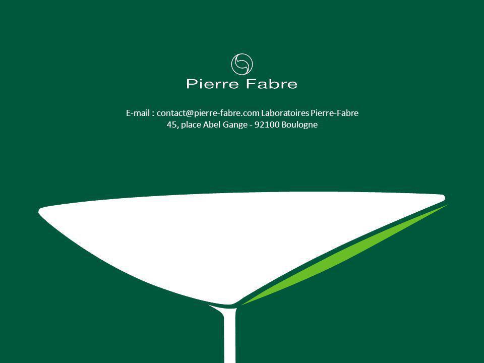 E-mail : contact@pierre-fabre.com Laboratoires Pierre-Fabre 45, place Abel Gange - 92100 Boulogne