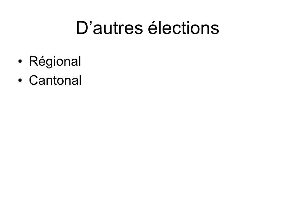 Dautres élections Régional Cantonal