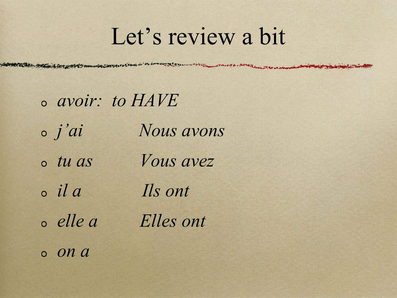 She wants to:
